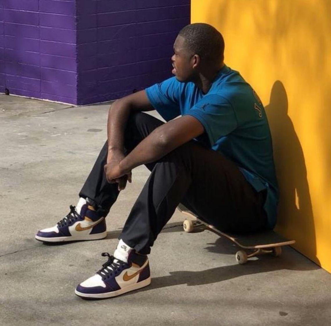Theotis Beasley in the Air Jordan 1 x Nike SB