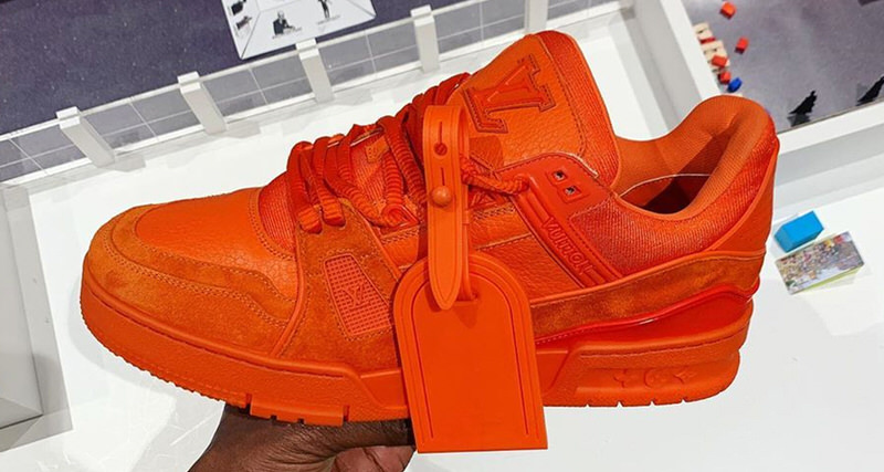 big sale 7aaa6 efb09 Virgil Abloh s SB Dunk Tribute From LV Surfaces in Orange