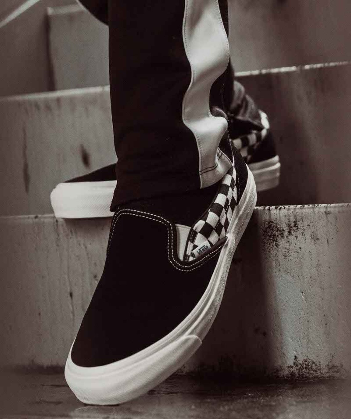 5f413fac82 Check out the images below for an on-foot look at the Modernica x Vans OG Classic  Slip-On LX.