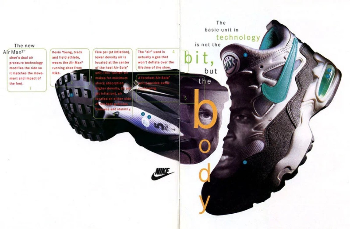 860869dbe4 The 1994 Nike Air Max2. photo via @onfootarchives