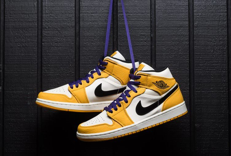 bde89bbfb109 The Air Jordan 1 Mid Dons Lakers Theme