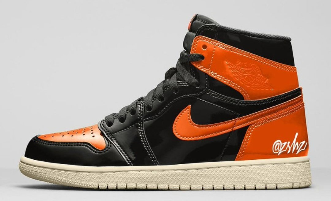 "designer fashion 61d1e 0a22d Air Jordan 1 ""Shattered Backboard 3.0"" Patent Leather Mock up by   zSneakerHeadz ..."
