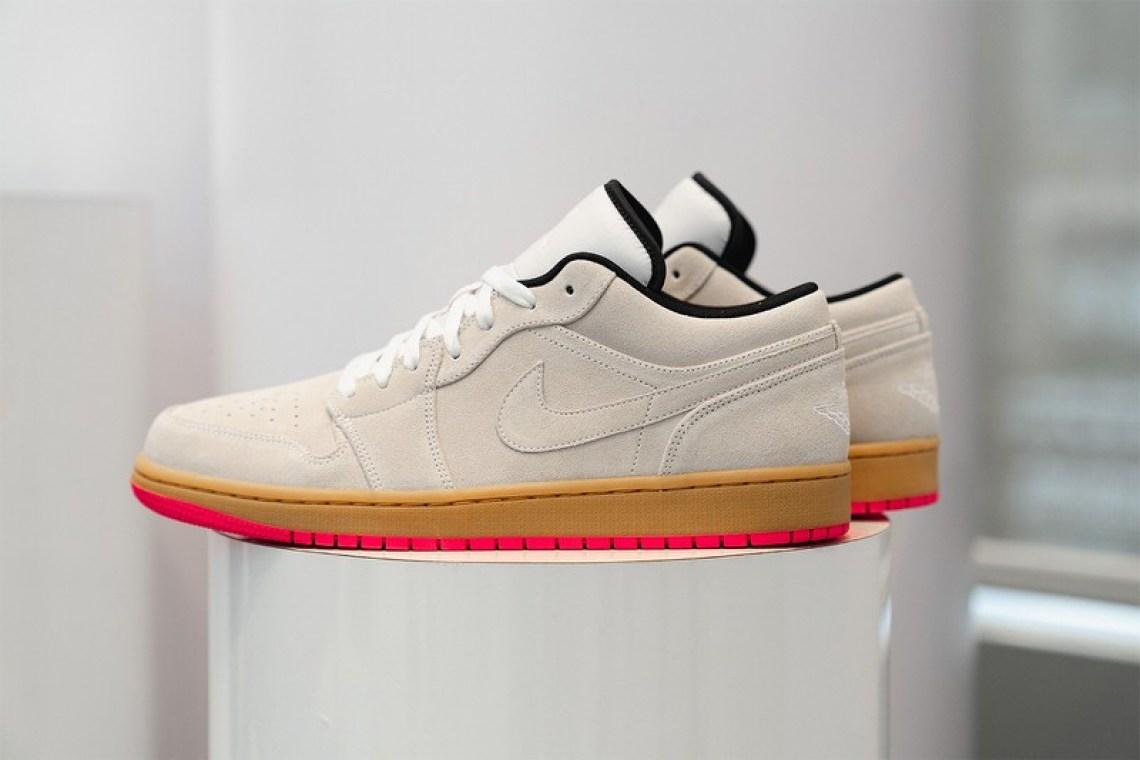 Air Jordan 1 Low White/Gym Yellow-Hyper Pink