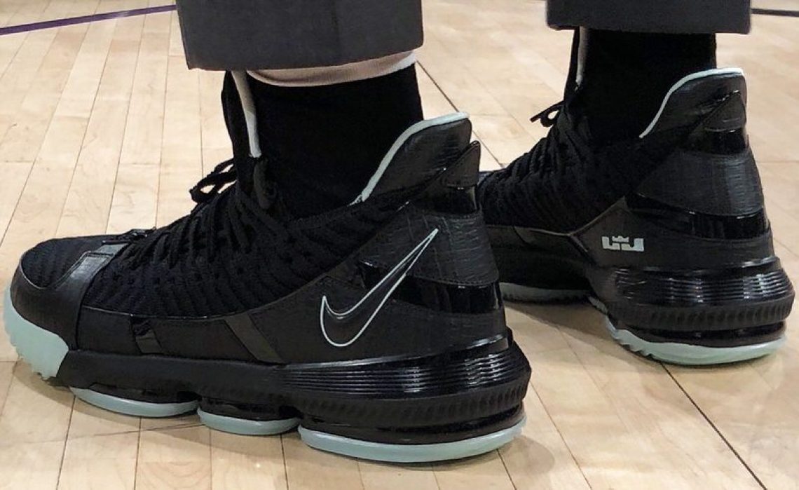 310fdf78da1e Game 79 vs. Golden State Warriors. LeBron James in the Nike LeBron 16 ...