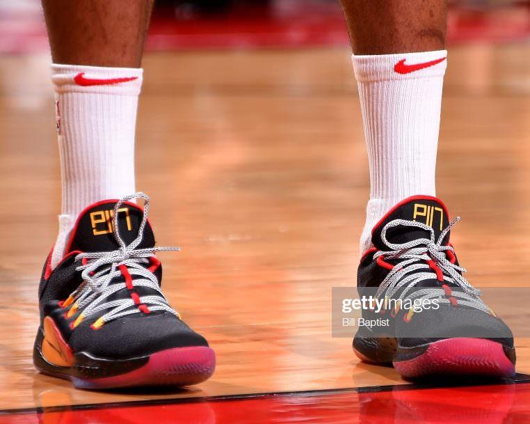 super popular 69deb a9171 ... PJ Tucker in his Nike Hyperdunk X Low PE (photo by Bill Baptist NBAE  via Getty Images)
