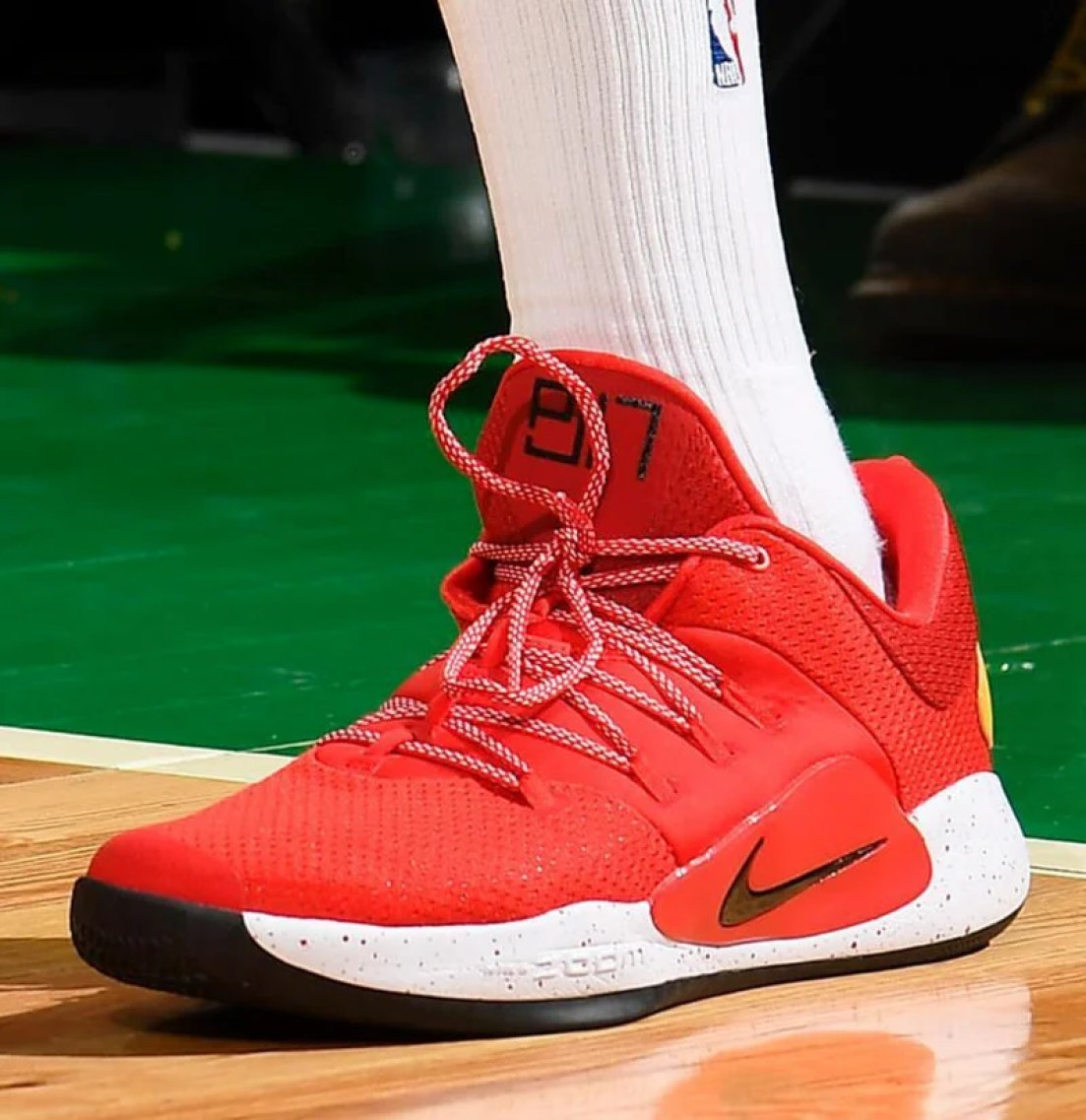 2427b146c ... PJ Tucker in his Nike Hyperdunk X Low PE (photo via BR Kicks)