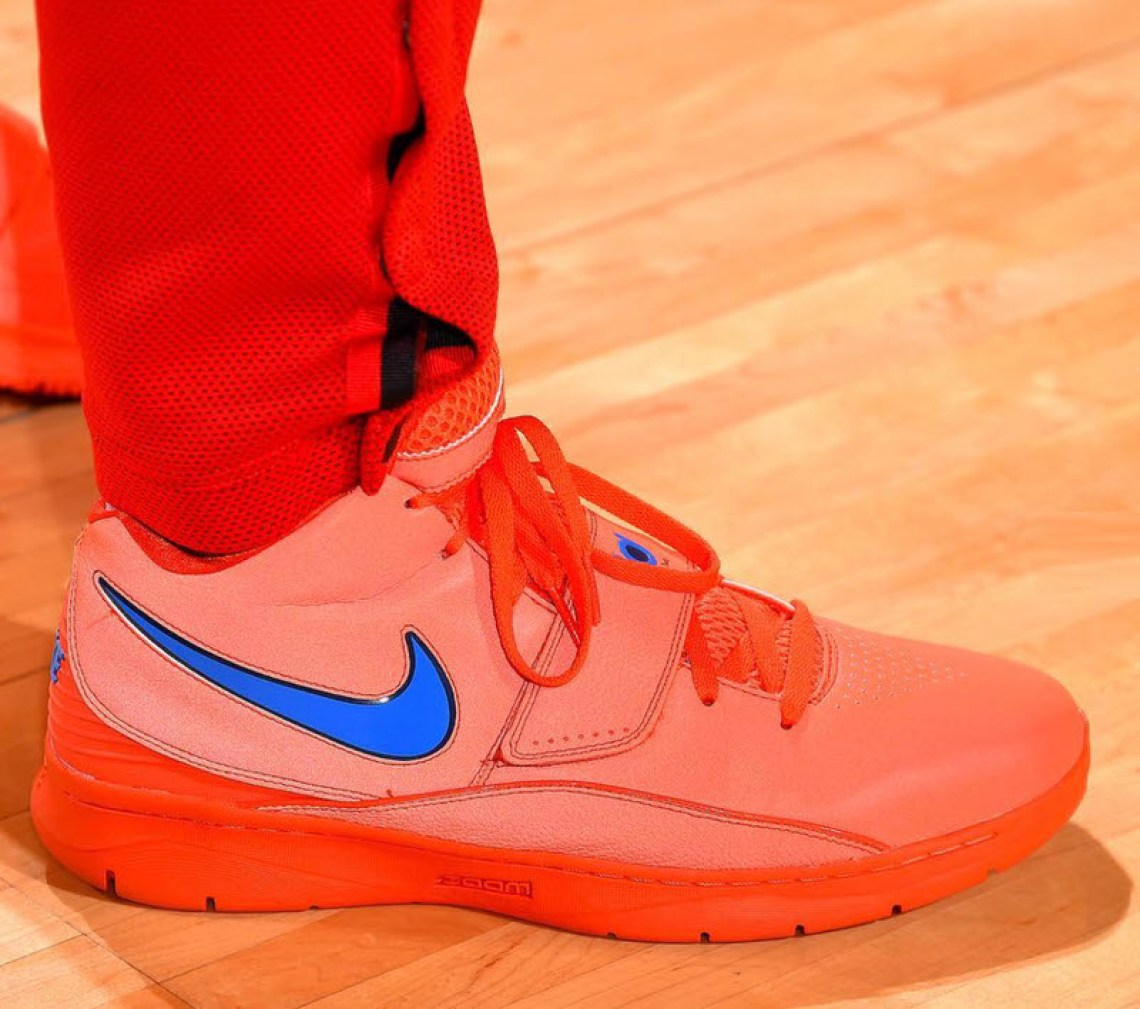 "purchase cheap 13dbb f1aa1 ... PJ Tucker in the Nike KD II ""Creamiscle"" (photo by Bill Baptist Getty  Images via Sole Collector) ..."