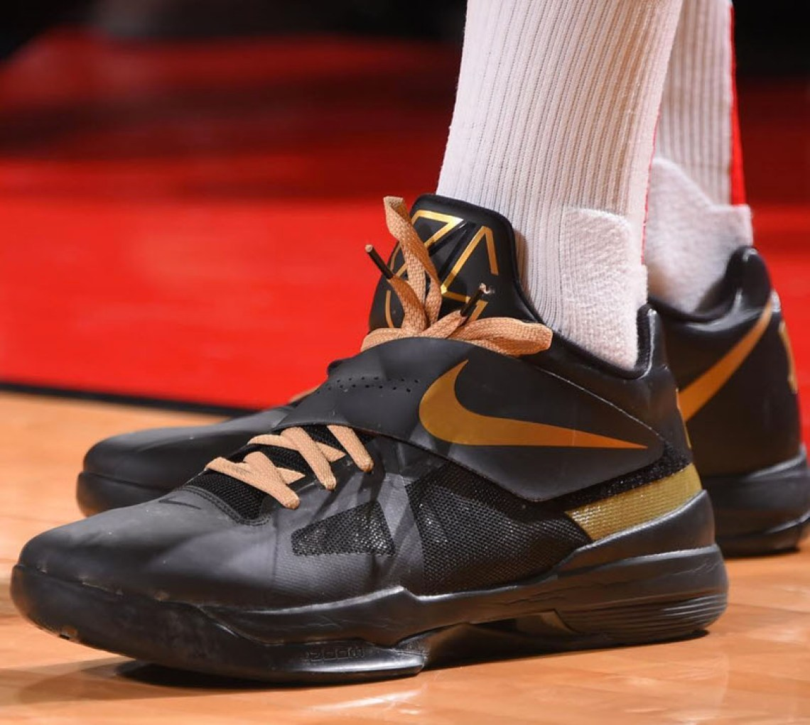 big sale 5ec9e 11276 ... PJ Tucker in the Nike KD IV iD (photo by Bill Baptist Getty Images via  Sole Collector)