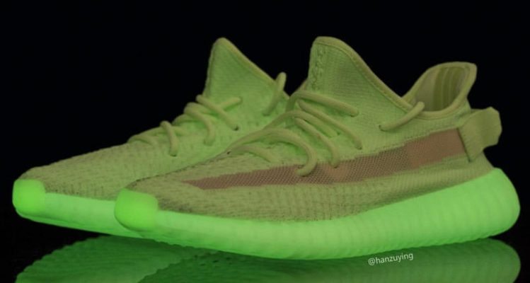"""A First Look at the adidas Yeezy 350 V2 """"Glow In The Dark"""""""