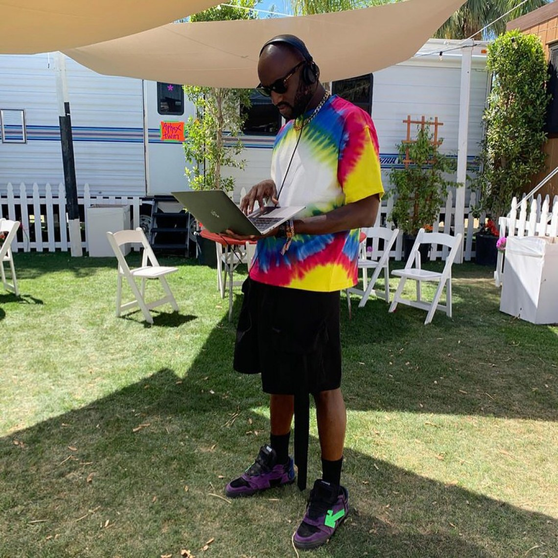 Virgil Abloh in the Off White sneakers