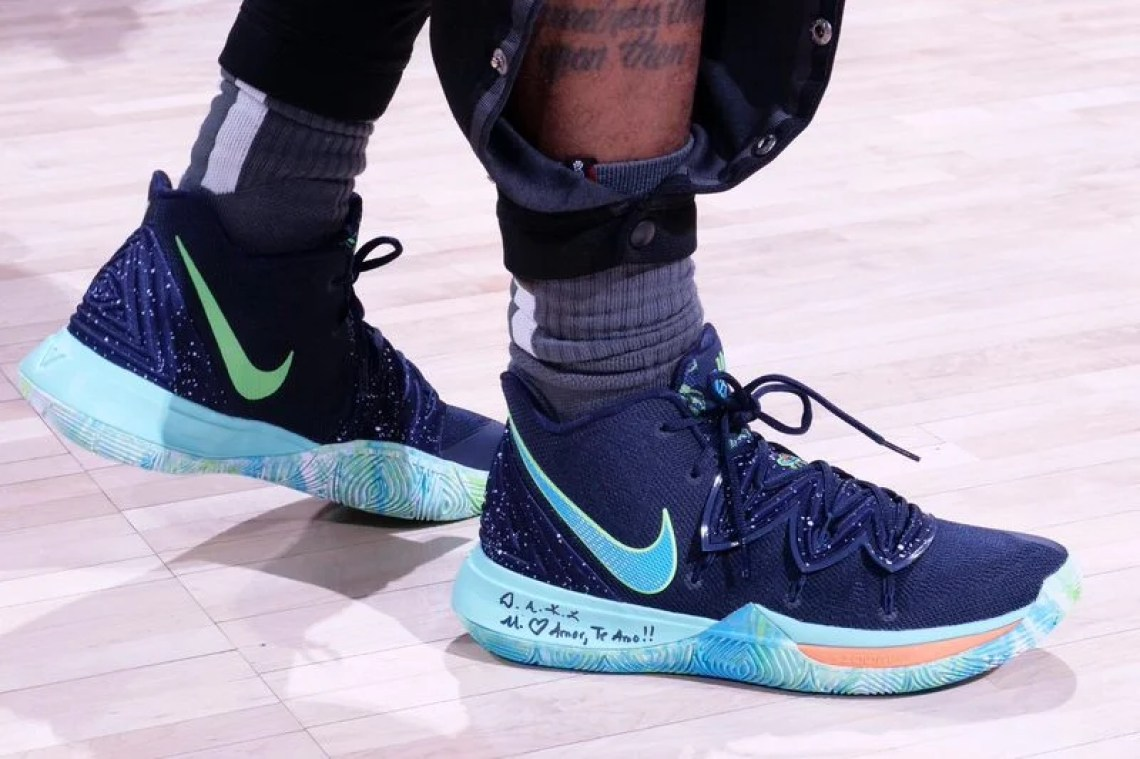 best authentic ab47f c9f72 Kyrie Irving in the Nike Kyrie 5 PE vs. Indiana Pacers Game 3 (Ron Hoskins NBAE  via Getty Images)