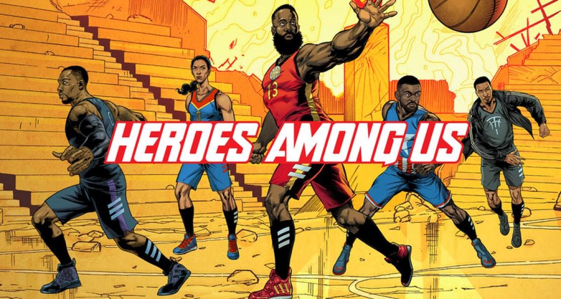 "Marvel x adidas Hoops ""Heroes Among Us"" Pack"