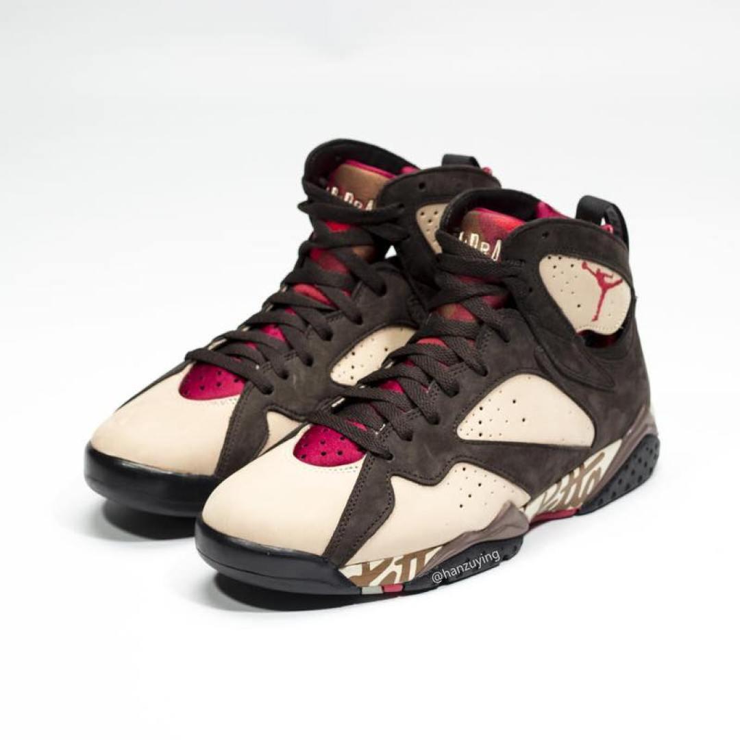 92e376557aeb6f Here s How the Patta x Air Jordan 7 Looks On Foot