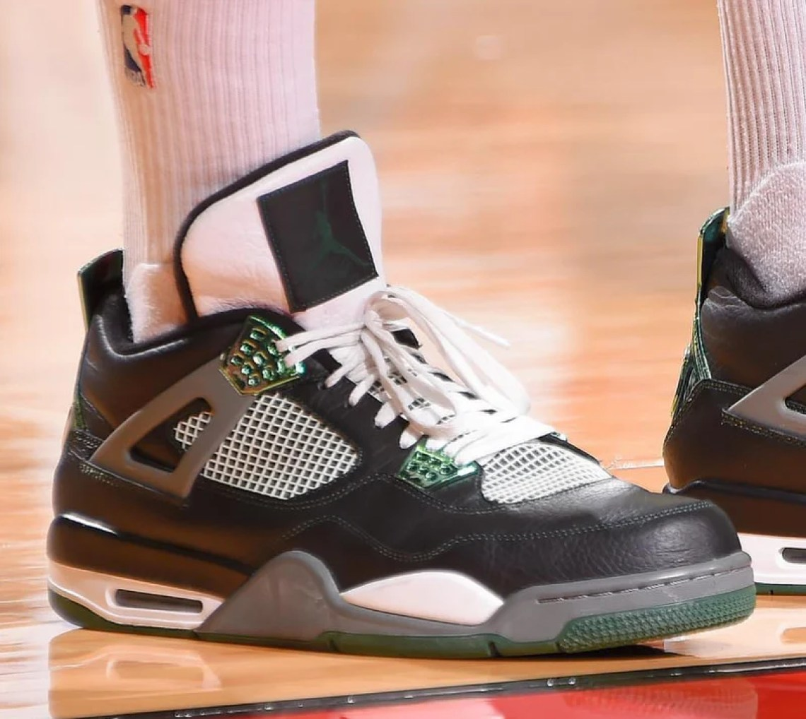 0668b07afaf7 ... PJ Tucker in the Air Jordan 4 Oregon PE (photo by Bill Baptist via Sole  Collector) PJ Tucker in the Aleali May x Air Jordan 10 ...