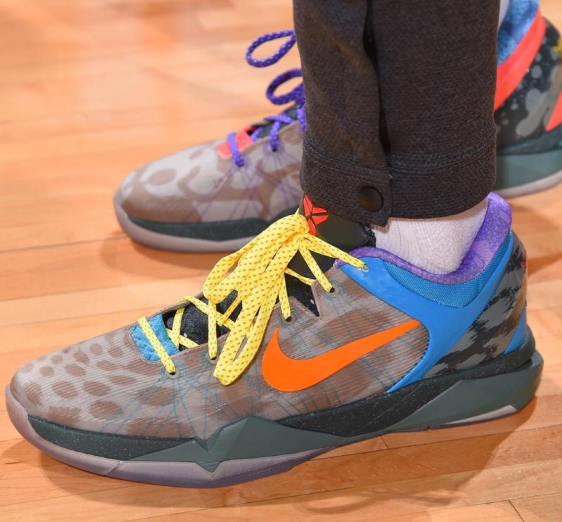 "db0c99255 ... PJ Tucker in the Nike Kobe VII ""What the"" (photo via NBA Kicks) ..."