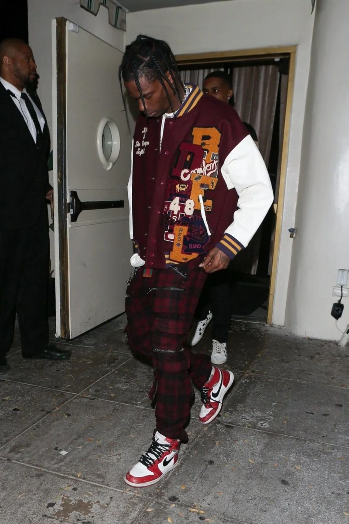 Travis Scott's oversized letterman look has all the bells and whistles, as well as an extra emphasis on embroidery.