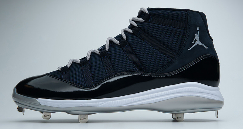 08b3db9ae06950 Air Jordan 11 CC Sabathia PE Cleat Celebrates Historic Milestone. Jordan  Brand