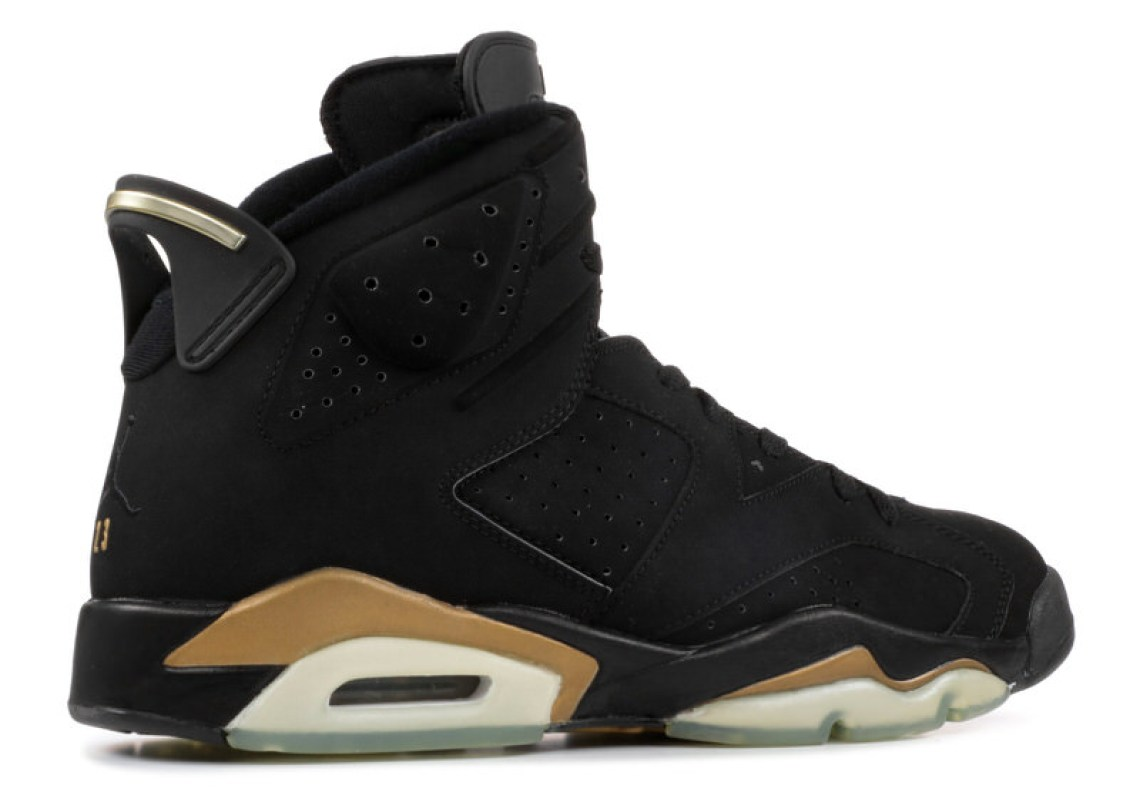 new arrival bb1a3 df436 Released for the first and only time in January 2006, the Black Gold AJ6  came paired in a package with the Air Jordan 11 in a gold accented  variation of the ...