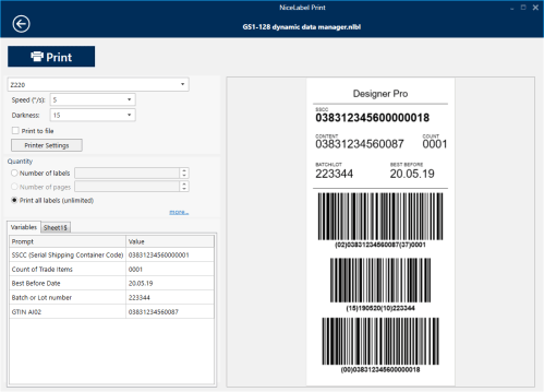 small resolution of the most efficient label printing application