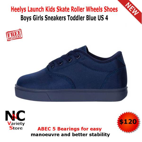 bf62bf4a940 Heelys Launch Kids Skate Roller Wheels Shoes Boys Girls Sneakers Toddler  Blue US 4 - Nice n Cheap Variety Store