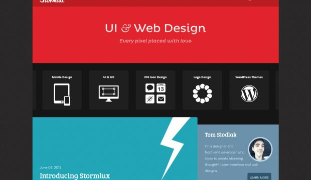 Stormlux UI And Web Design Webdesign Inspiration Www