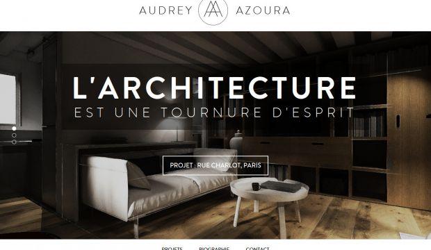 Audrey Azoura  Interior Designer  Webdesign inspiration wwwniceoneilikecom