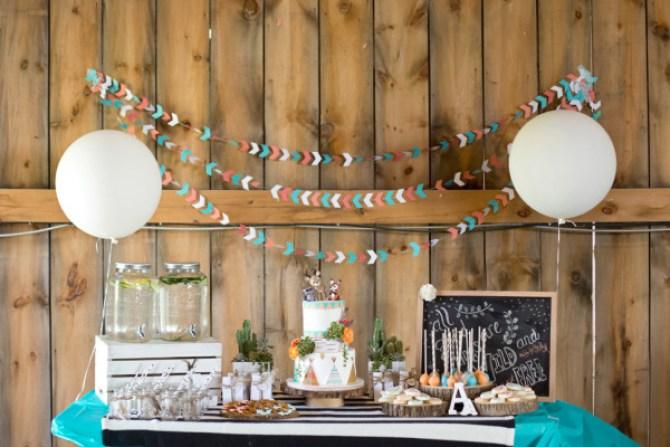 inspiración mesa de dulces salvaje