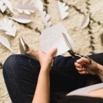 Ideas DIY para navidad: Una guirnalda de hojas blancas
