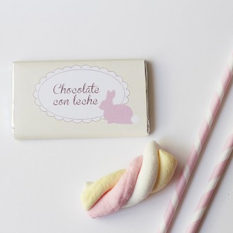 Nice Party Shop: Chocolatinas conejito rosa (1)