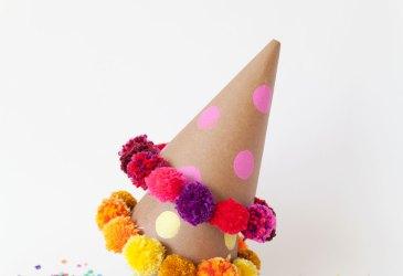 Inspiración: Gorros de fiesta con pompones