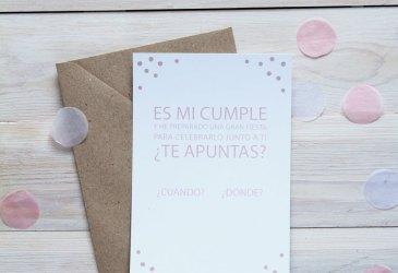 Imprimible gratuito: Invitación confetti