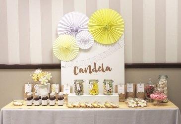 Cómo decorar una mesa de dulces cuando la pared no es bonita