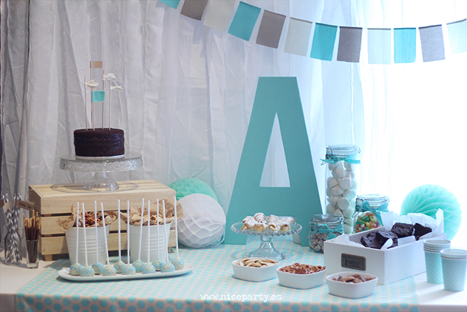 Nice Party - Babyshower color mint Mesa de dulces