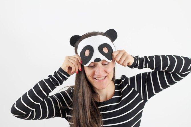 Nice Party DIY máscara oso panda Halloween disfraz (3)