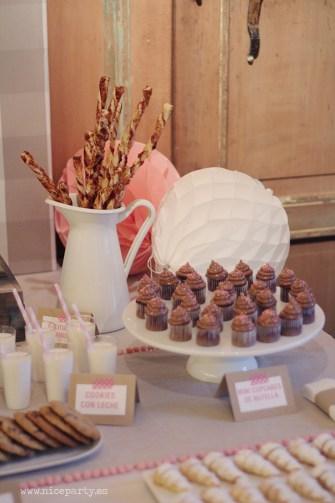 Nice Party- Mesa de dulces bautizo color rosa (3)