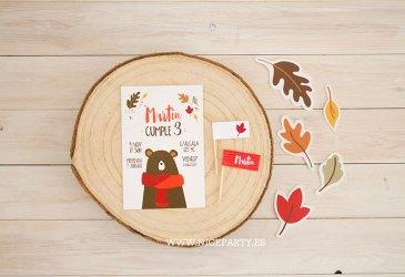 Nuevo kit imprimible: Oso de otoño