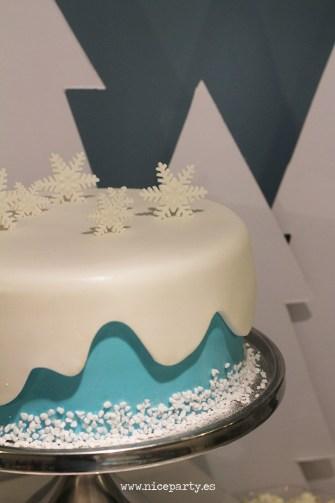 Nice Party fiesta Frozen. Mesa de dulces. Tarta decorada