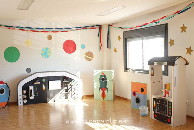 Nice Party fiesta de cumpleaños del espacio Nave espacial Panel de mandos Juegos para niños