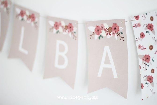 Nice Party guirnalda de flores para comunión o boda (3)
