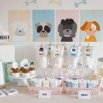 Una mesa dulce de perritos