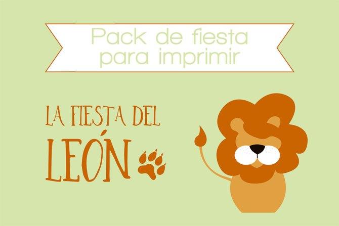 Pack de fiesta para imprimir FIesta león Nice Party