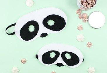 DIY máscara de oso panda para niños y mayores