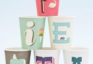 Cosas bonitas: Vasos con letras
