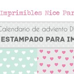 Calendario de adviento DIY: Día 3 papeles estampados