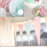Colores de comunion: Rosa y mint