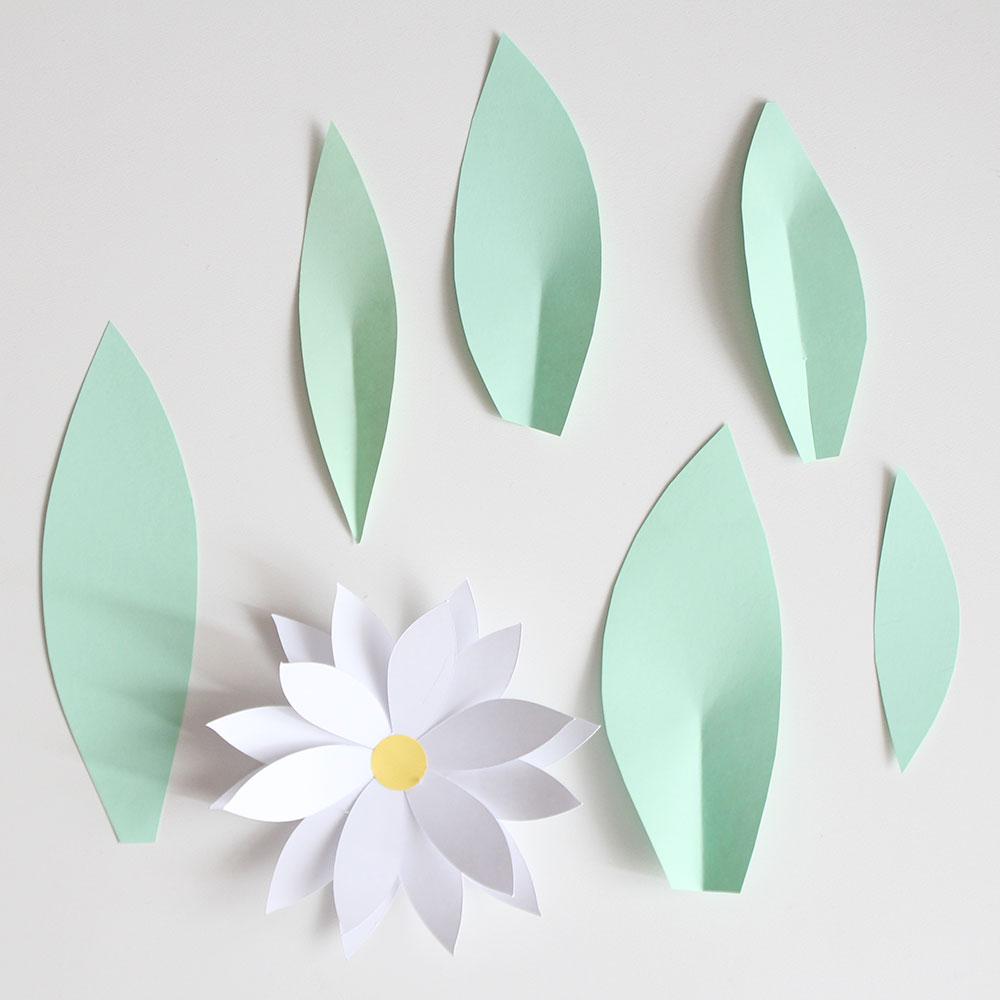Nice Party flores de papel gigantes con plantilla e instrucciones