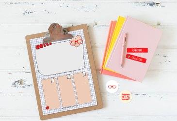 Freebie: Un planificador imprimible para la vuelta al cole