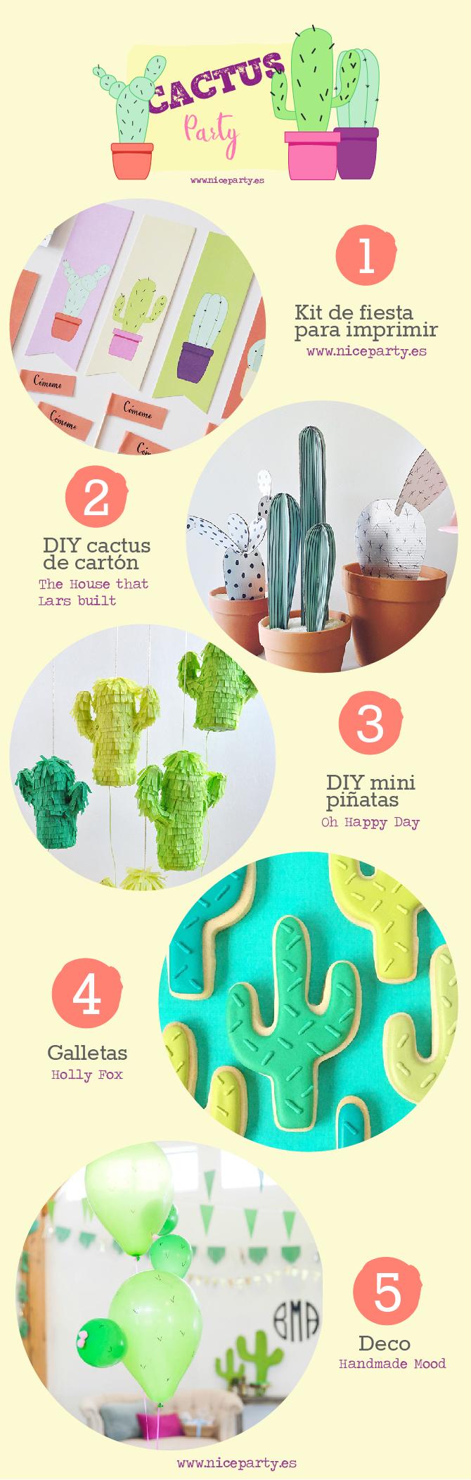 Cómo preparar una cactus party en casa DIY ideas e inspiración