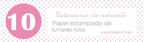 Nice Party papel lunares rosa