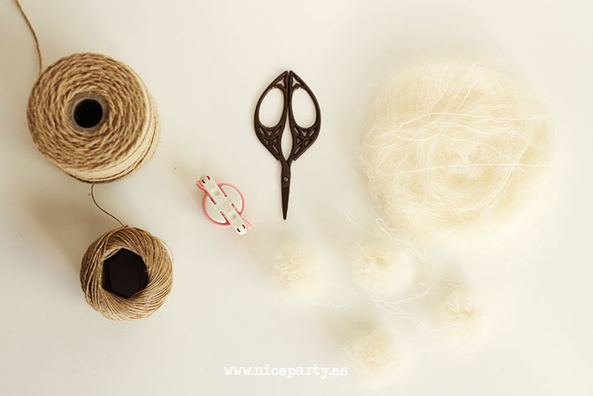 Nice Party DIY tutorial guirnalda pompones (4)